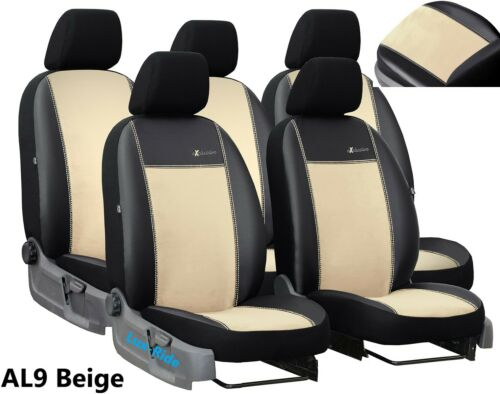 VW TOURAN FACELIFT 2010-2015 ECO LEATHER /& ALICANTE TAILORED SEAT COVERS