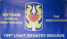 199TH INFANTRY BRIGADE VIETNAM 3'X5' 2PL POLYESTER 1-SIDED INDOOR 4 GROMMET FLAG