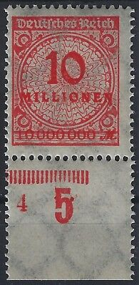 318ap Vom Plattenunterrand Mit Plnr Hart Arbeitend Korbdeckel Minr 4 Postfrisch