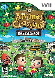 Animal Crossing: City Folk (Nintendo Wii  Wii U) GAME COMPLETE w MANUAL TESTED