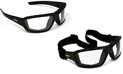 DEWALT DPG83-11 Converter Clear Lens Safety Glasses Goggles Anti-Fog Foam Padded