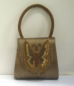 Bead Sequin New Bag Beaded Butterfly Handle Silk n0P8kOw