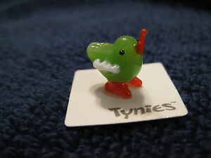 PEP CHICK GREEN animal TYNIES Tiny Glass Figure Figurines Collectibles NEW 0023