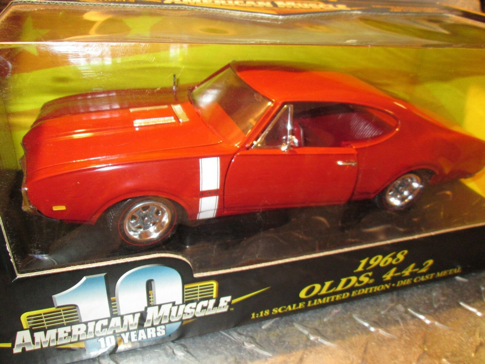 68 Olds Oldsmobile Cutlass 442 American Muscle Ertl Rally 1 18 ruedas