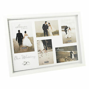 Amore-Wedding-day-Collage-Photo-Frame-holds-5-pictures-gift-Idea-NEW-19549