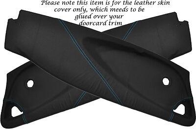 Blue stitch fits Lotus Elise Exige S2 01-12 2x porte carte perforées Lthr couvre
