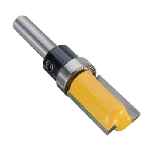 "Top Bearing 1//2/""Flush Blade Woodworking Milling Cutter Router Bit 1//4/"" Shank"