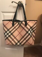 Authentic Burberry Nova Check  XL Tote Bag Handbag Diaper Computer Bag Preowned
