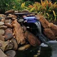Pond Boss® Lighted Waterfall Led Spillways - Blue Or White, 12 Or 14 Sizes