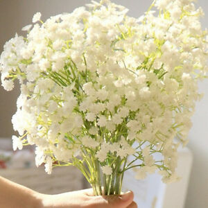 2x artificial silk fake white gypsophila flower wedding party image is loading 2x artificial silk fake white gypsophila flower wedding mightylinksfo