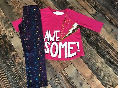NWT GYMBOREE SIZE 4 5 6 7 8 10 12 OUTFIT SET COSMIC CLUB AWESOME TUNIC LEGGINGS