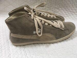 1fcab739745a puma suede mid classic men s PUMA Suede Mid Classic Mens SUEDE Gray Tan  High Top Sneakers Shoes .