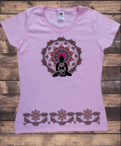 Femme t-shirt Esprit Yoga Top Bouddha Méditation Zen Hobo Boho TS1733