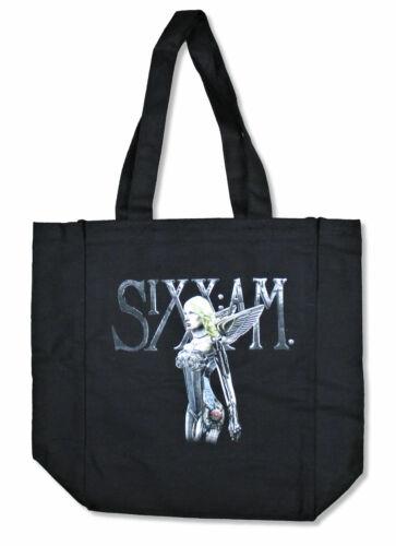 Sixx A.M AM Cyborg Woman Black Tote Bag New Official Band Merch Crue