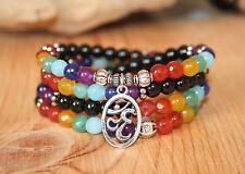 108 Chakra Ohm Healing Mala Beads Bracelet Necklace- Meditation Zen Yoga Jewelry