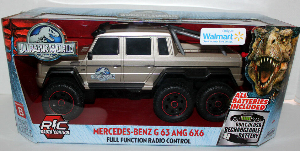 JURASSIC WORLD MERCEDES-BENZ JADA G63AMG RADIO CONTROL W BUILT IN USB BATTERIES