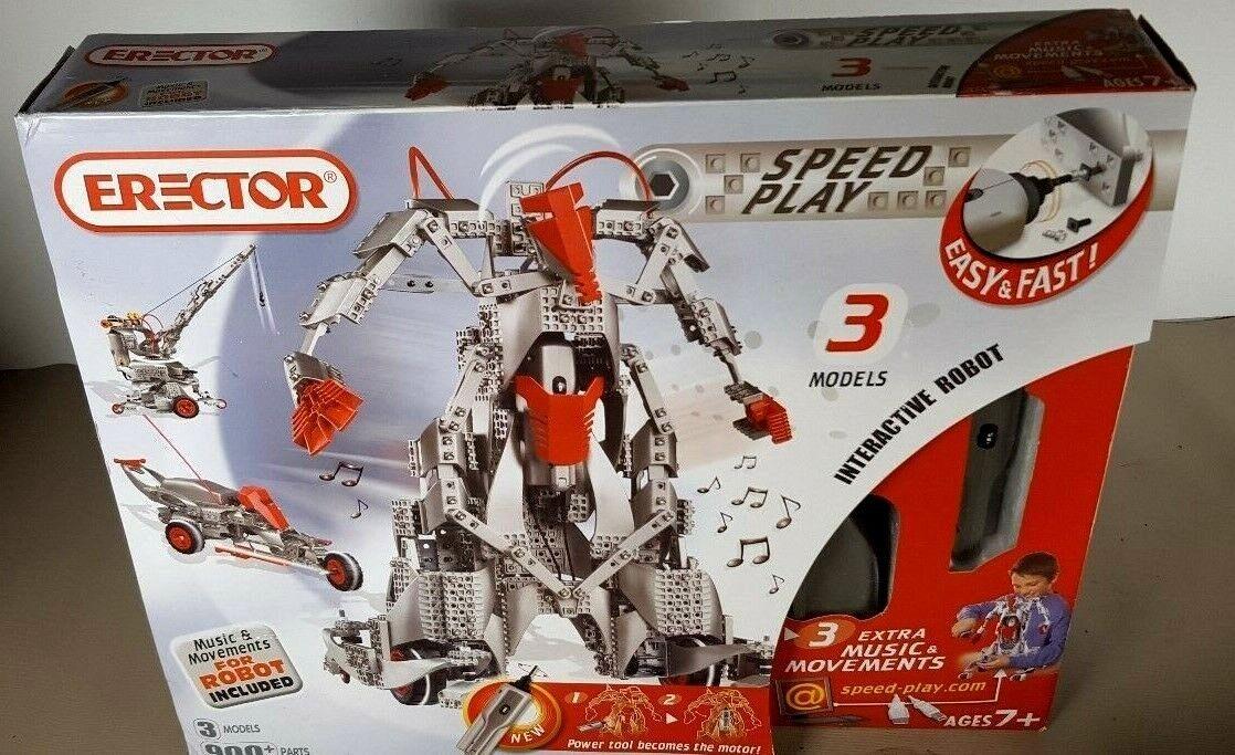 Erector Set   9901- 3 Interactive Robotic Models