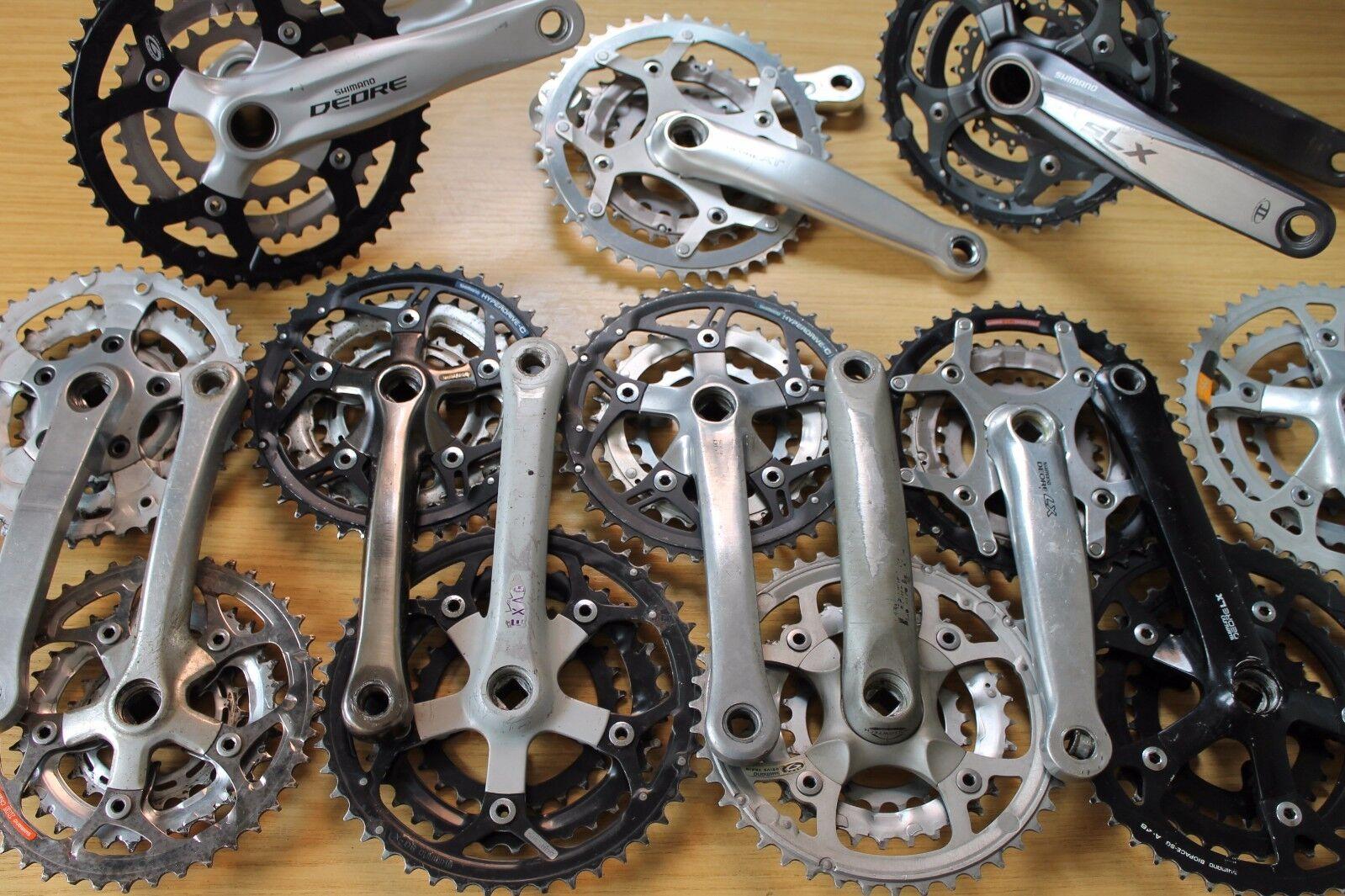Shimano Chainset Crankset Crank Arms Set Retro Choice Triple W Rings XT Deore..