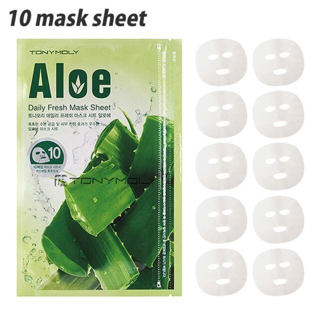 [TONYMOLY] Daily Fresh Aloe Mask Sheets Bulk 10masks 150g Zipper pack type