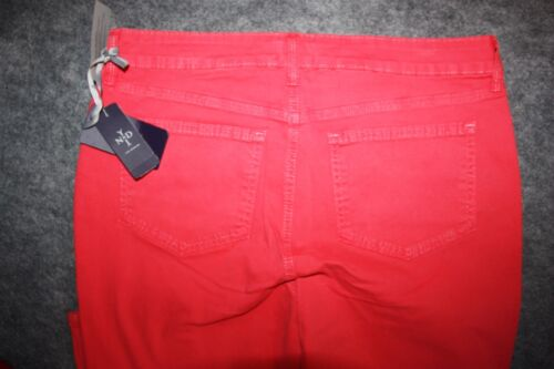 NYDJ Not Your Daughter Jeans Pants Super Skinny Hibiscus Pink Size 14 Long