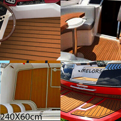 DE Boot Schaum Bodenbelag Fußboden 240cmx5,8cm Teak Mat Yacht Wohnmobil Matte