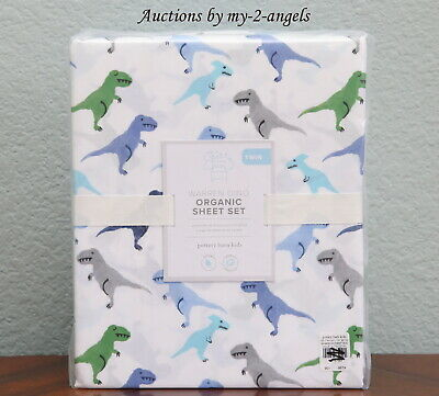 New Pottery Barn Kids Warren Dinosaur 3 Pc Organic Cotton
