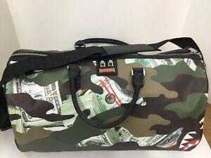 Details about Sprayground Camo Money Shark Duffel Bag