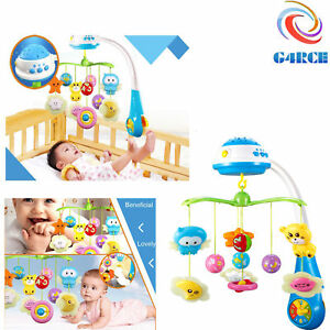 Premium-Baby-Newborn-Cot-Bed-Car-Crib-Buggy-Musical-Toy-Light-Projector-Gift-UK