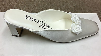 Satén color marfil Wedding Bridal Dama Zapato todos los tamaños puro y preciosos Celine