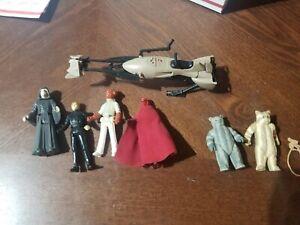 Return-Of-The-Jedi-Action-Figure-Lot-STAR-WARS-1983-LUKE-SKYWALKER-EWOK-kenner