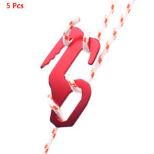 4 Pcs Black 9 Shape Rope Tightener Tie Down Strap Tool Camping Tent Rope Buc '.
