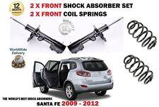 Per HYUNDAI SANTA FE 2009-2012 NUOVE 2X Anteriore Ammortizzatore + Molle a Spirale Set