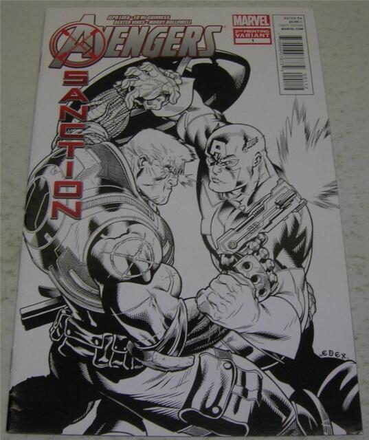 AVENGERS: X-SANCTION #1 2nd PRINT SKETCH VARIANT (Marvel 2012) CABLE (FN/VF)