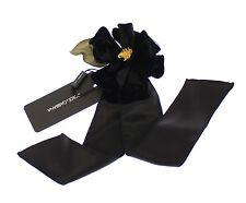 NWT $520 DOLCE & GABBANA Brooch Bouquet Accessory Black Silk Flower Runway