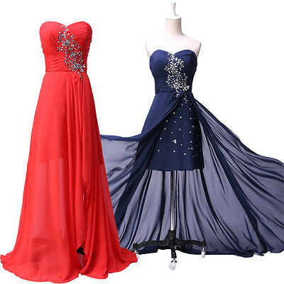 CHEAP~ Long Short Cocktail Evening Party Formal Ball Gowns Prom Bridesmaid Dress