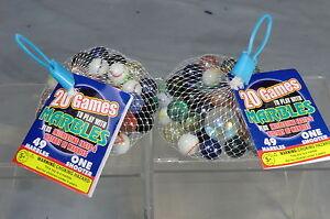 """2 x sac de 50 verre marbles"""" 20 jeux à jouer""""-afficher le titre d`origine ItlLyZPU-08133427-544019318"""