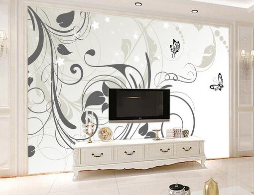 3D Curved Vines Graffiti 58 Paper Wall Print Wall Decal Wall Deco Indoor Murals