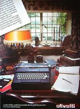 1977 OLIVETTI 'Lexikon 83DL' Electric Golfball Typewriter Advert - Print AD