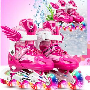 Adjustable-Kids-Girls-Boys-Rink-Skates-4-Wheels-Quad-Roller-Skates
