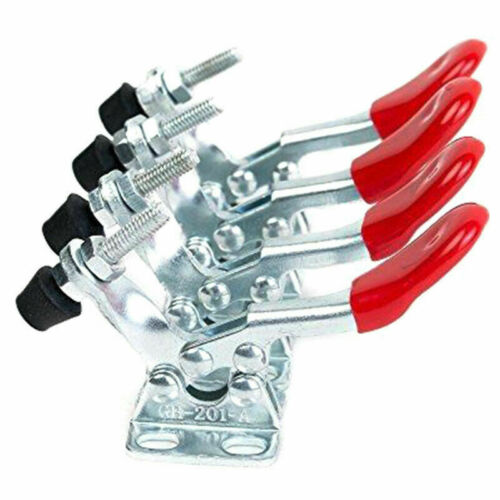 4PCS Set Bouton Serre-Joint GH-201A 201-A Horizontal Support Rapide Main Outils