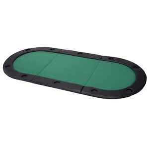 79 Quot X36 Quot Portable Tri Fold Oval Padded Poker Table Top
