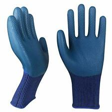 Durable Rubber Latex Coated Grip Safety Work Gloves For Men 3 Pairs Nylon Kni