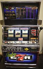 "IGT S2000 COINLESS SLOT MACHINE ""LUCKY 7'S BAR"" YEAR WARRANTY"