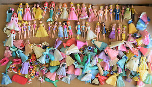 Lot of over 40 Disney Princesses Polly Pocket figures plus outfits