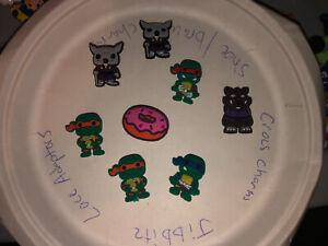 Teenage-Mutant-Ninja-Turtles-Lot-Of-8-Crocs-Bracelet-Lace-Adapter-Charms-jibbitz