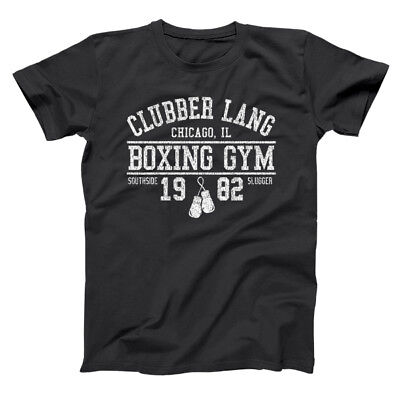clubber lang boxing gym retro rocky 80s workout gym black