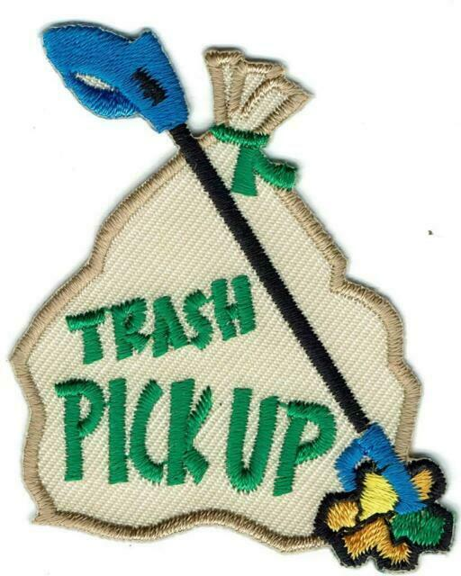 Girl Boy Cub Trash Pick up Clean Road Patches Crests Badges Scout ...