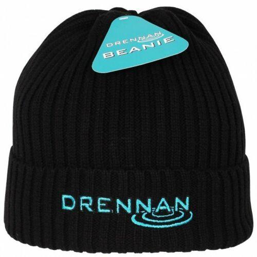 Drennan Bonnet en Tricot Chapeau noir de pêche en plein air