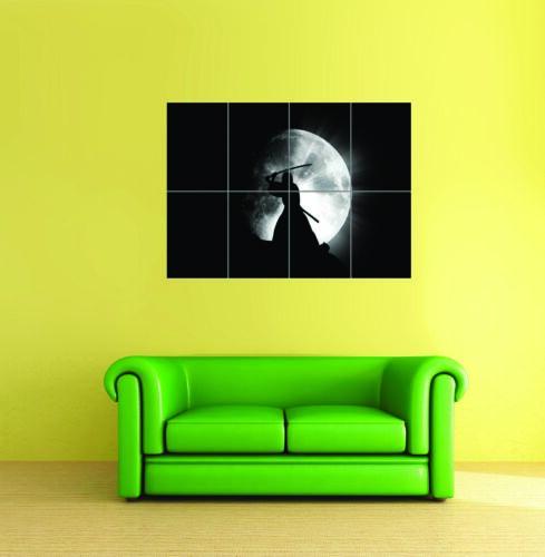 Samurai Warrior Moon Giant Art Poster Print