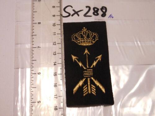 sx288 Niederlande Abzeichen golden auf schwarz 1 Stück
